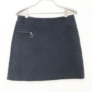 Vintage Made in France Quilted Mod Mini Skirt 6/8